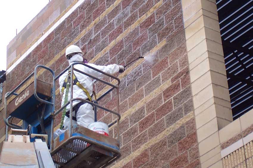 Чистка фасадов и гидрофобизация